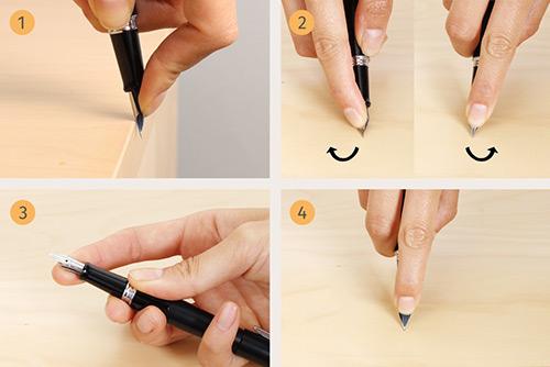 исправление наконечника перьевой ручки